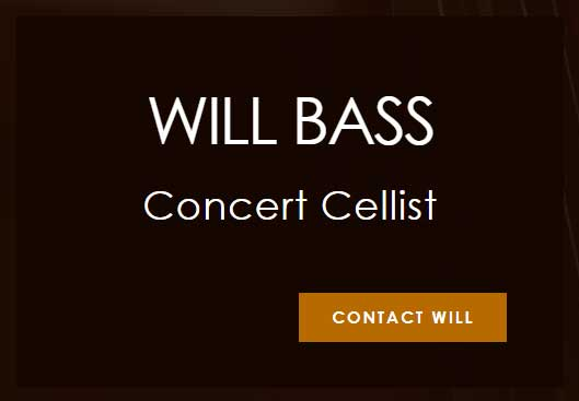 contact Will Bass concert cellist